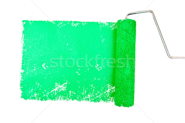 One green trace of painting against a white background Stock photo © wavebreak_media