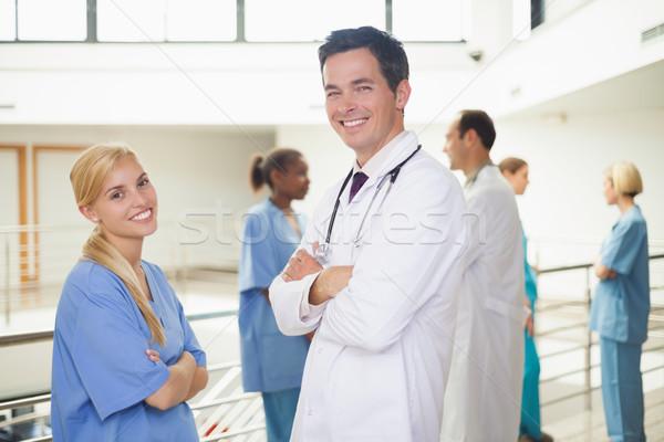 Сток-фото: врач · медсестры · больницу · коридор · медицина