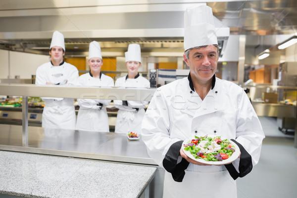 Testa chef insalata squadra piedi Foto d'archivio © wavebreak_media
