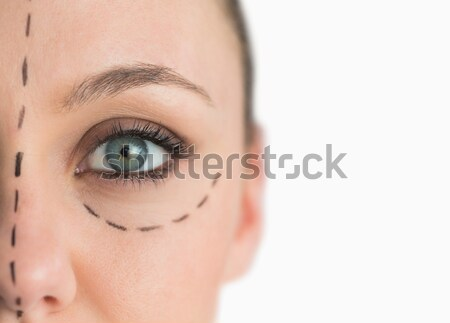 Face ready for a facelift on white background Stock photo © wavebreak_media