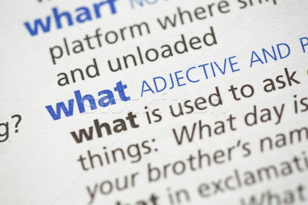 何 定義 辞書 紙 青 黒 ストックフォト © wavebreak_media