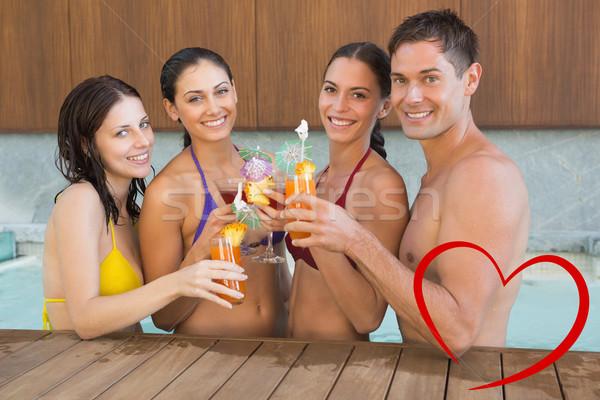 Stok fotoğraf: Görüntü · insanlar · içecekler