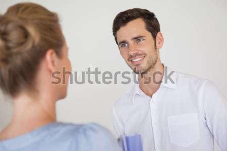 улыбаясь бизнесмен женщину за служба портрет Сток-фото © wavebreak_media