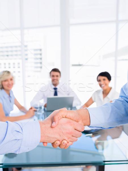 握手 商務會議 手 男子 商業照片 © wavebreak_media