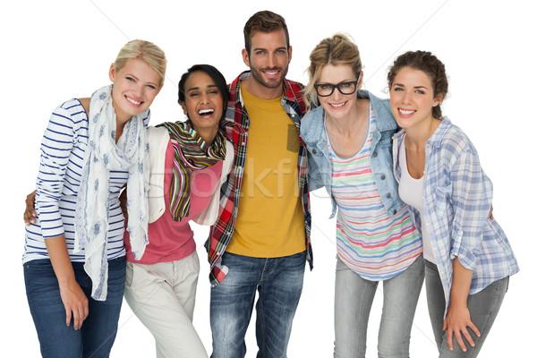 портрет молодые люди белый друзей азиатских женщины Сток-фото © wavebreak_media