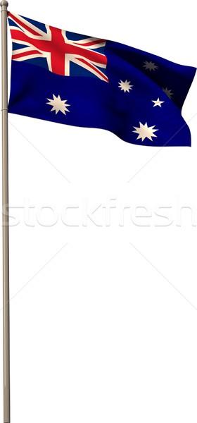Digitálisan generált Ausztrália zászló fehér Stock fotó © wavebreak_media