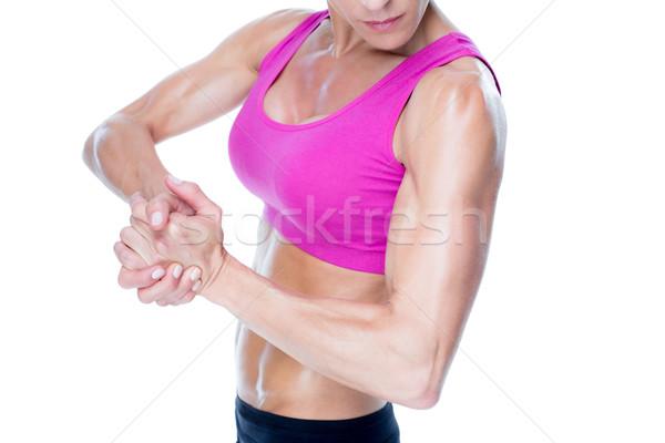 Kadın vücut geliştirmeci beyaz kadın vücut Stok fotoğraf © wavebreak_media