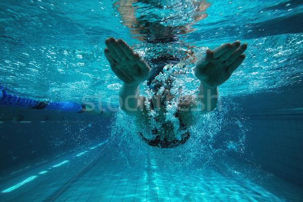спортивный пловец подготовки собственный Бассейн отдыха Сток-фото © wavebreak_media