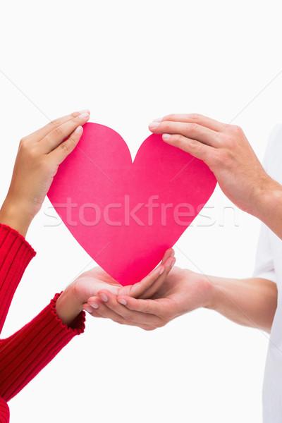 пары рук розовый сердце белый Сток-фото © wavebreak_media