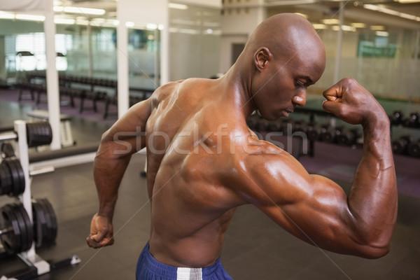 Sem camisa muscular homem músculos jovem Foto stock © wavebreak_media