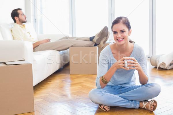 Young couple taking a break from unpacking Stock photo © wavebreak_media