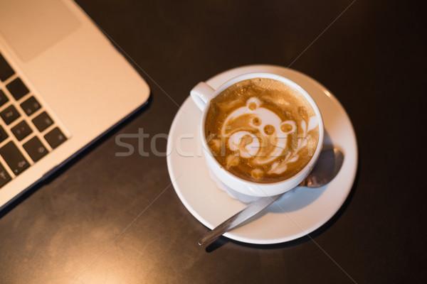 Tenha projeto espuma café negócio Foto stock © wavebreak_media