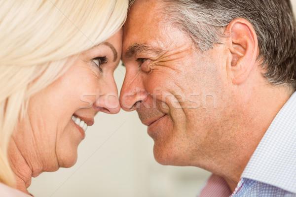 Boldog érett pár mosolyog együtt otthon Stock fotó © wavebreak_media
