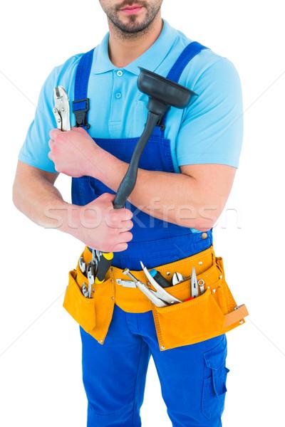 Loodgieter tool gordel witte man dienst Stockfoto © wavebreak_media