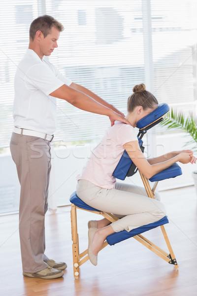 Woman having back massage Stock photo © wavebreak_media