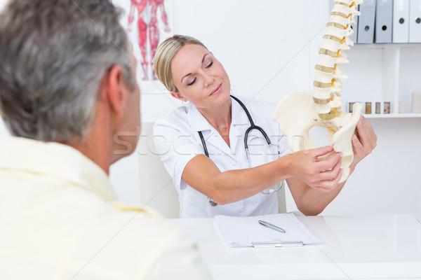 医師 患者 背骨 モデル 医療 ストックフォト © wavebreak_media