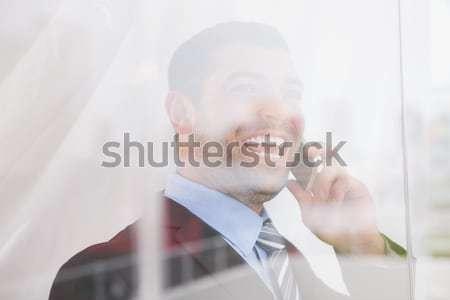 Stock fotó: üzletasszony · érzés · csapdába · esett · iroda · nő · öltöny