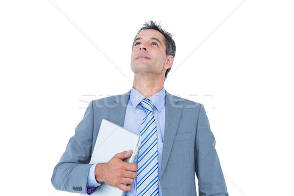 興奮した ビジネスマン ノートパソコン 白 ストックフォト © wavebreak_media