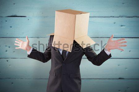 анонимный бизнесмен , держась за руки из серый рук Сток-фото © wavebreak_media