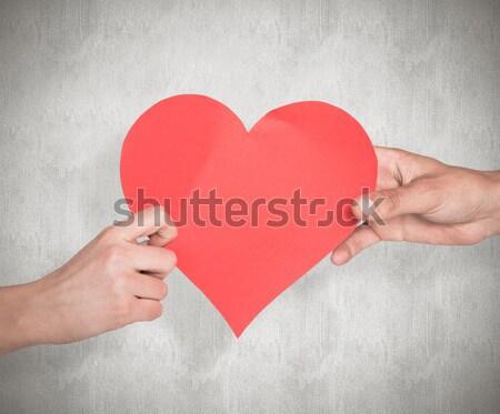 Hands holding red heart Stock photo © wavebreak_media