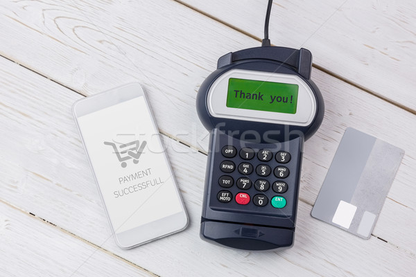 Composite image of screen showing payment successful with trolle Stock photo © wavebreak_media