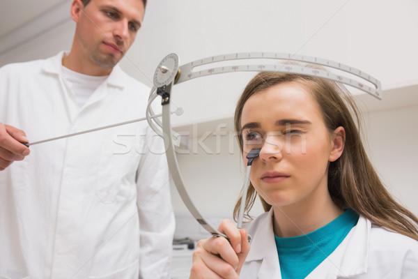 Student doing a sight test Stock photo © wavebreak_media