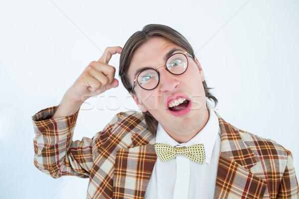 Geeky hipster scratching his head  Stock photo © wavebreak_media