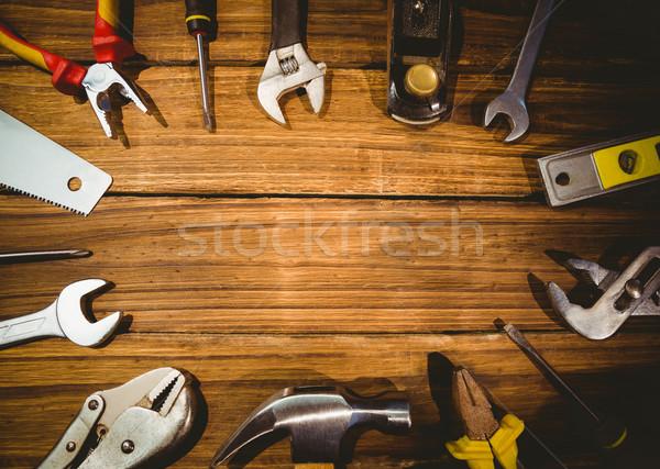 Tools uit tabel shot studio Stockfoto © wavebreak_media