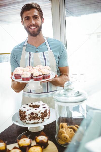 улыбаясь работник за борьбе Сток-фото © wavebreak_media