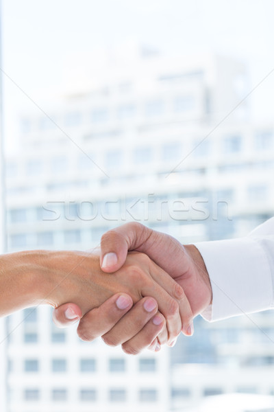 Close up view of two business people shaking hands Stock photo © wavebreak_media