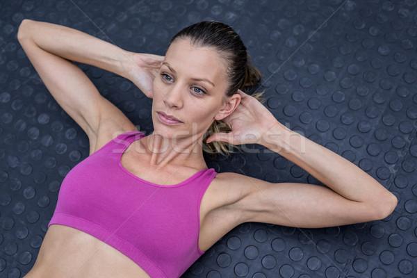 мышечный женщину брюшной мнение здоровья клуба Сток-фото © wavebreak_media