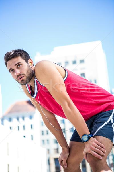 Agotado atleta adelante esfuerzo Foto stock © wavebreak_media