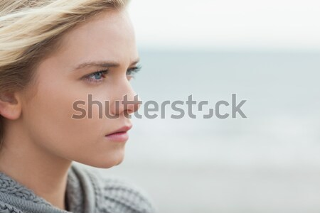 Close up thoughtful woman Stock photo © wavebreak_media