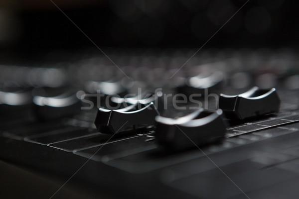 Dźwięku miksera muzyki Język Zdjęcia stock © wavebreak_media