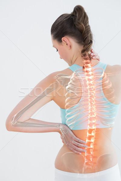 Digitalmente generato immagine femminile sofferenza dolore muscolare Foto d'archivio © wavebreak_media