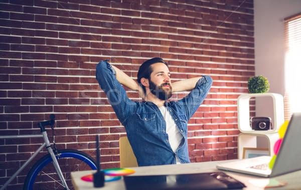 Om de afaceri relaxare creator birou mâini Imagine de stoc © wavebreak_media