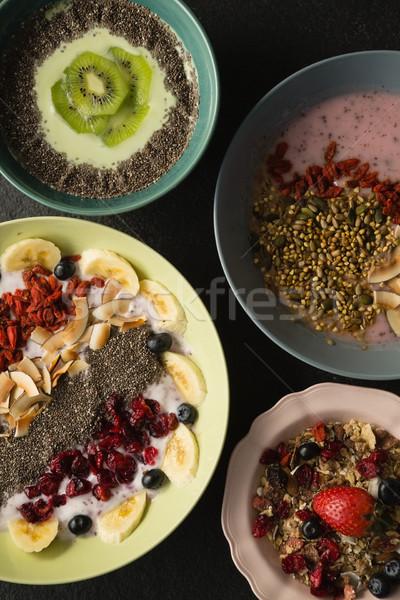 Fruits céréales concrètes fitness Photo stock © wavebreak_media