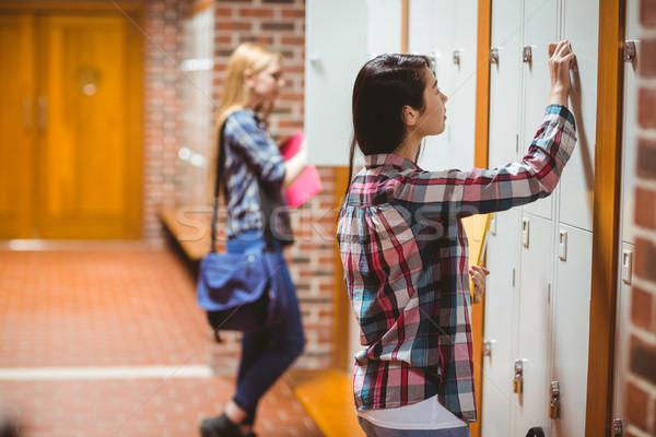 Csinos diákok nyitás diák főiskola egyetem Stock fotó © wavebreak_media