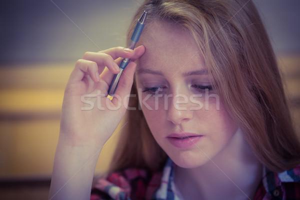 Focused student studying Stock photo © wavebreak_media