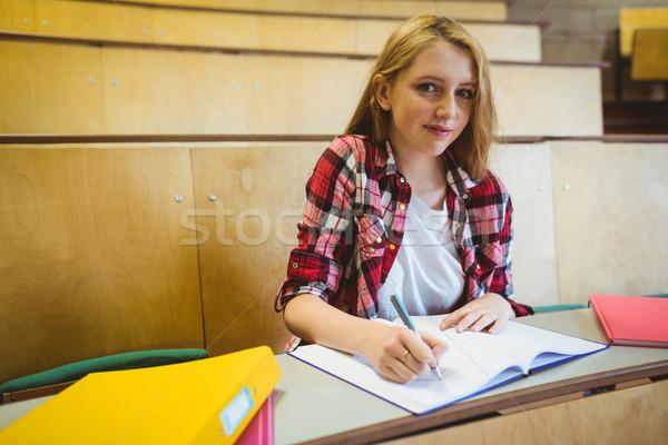 Glimlachend student klasse universiteit meisje Stockfoto © wavebreak_media