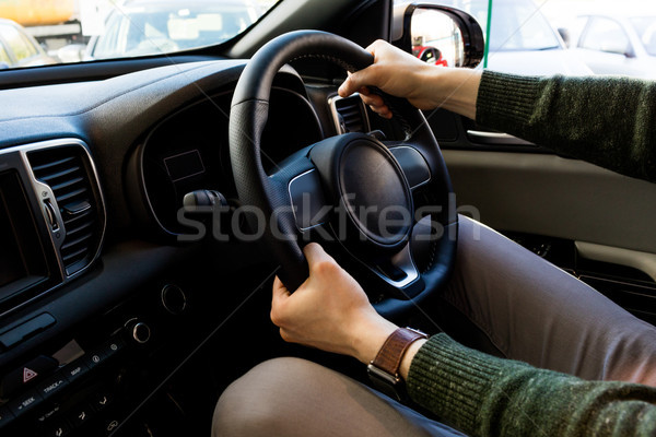 Midsection of customer examining car Stock photo © wavebreak_media
