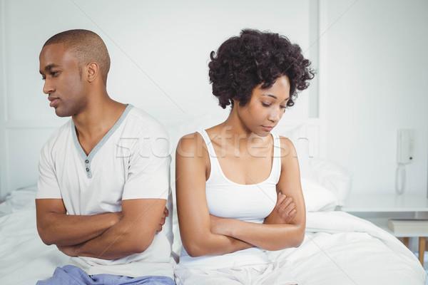 Upset couple not talking after argument Stock photo © wavebreak_media