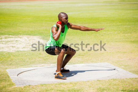 Soccer player practicing on obstacle Stock photo © wavebreak_media