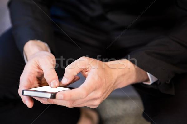 бизнесмен смартфон бизнеса человека Сток-фото © wavebreak_media