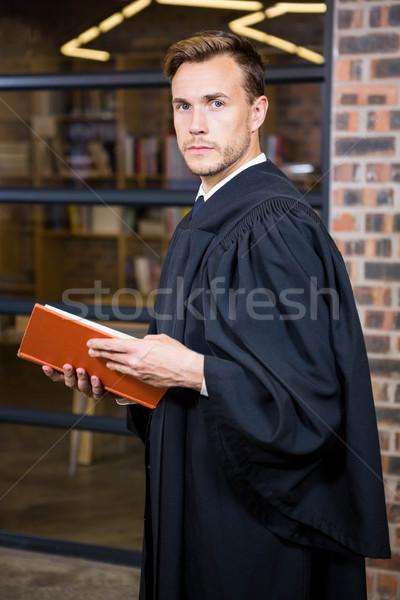 Adwokat stałego biblioteki prawa książki portret Zdjęcia stock © wavebreak_media