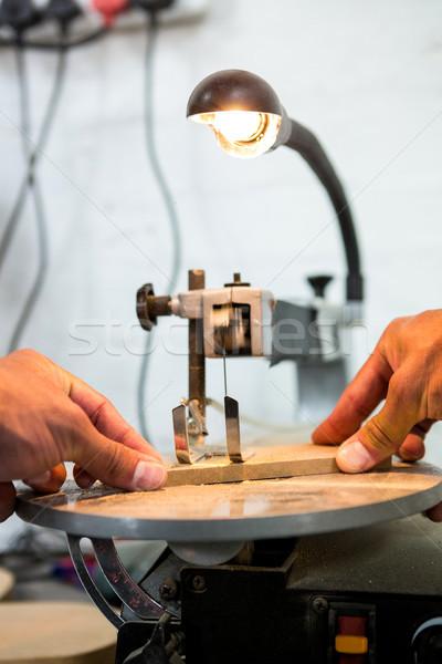 ács dolgozik kezek fény por műhely Stock fotó © wavebreak_media