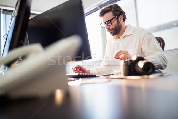 Businessman working with a computer Stock photo © wavebreak_media