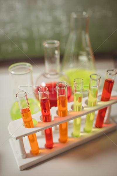 Test tube proveta secretária escolas tabela ciência Foto stock © wavebreak_media