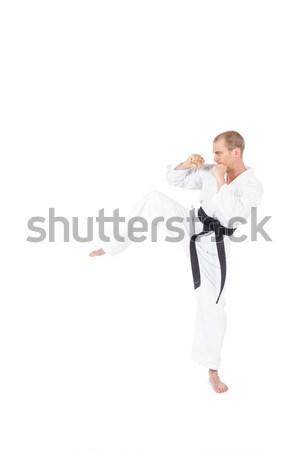 Lutador karatê posição branco homem Foto stock © wavebreak_media
