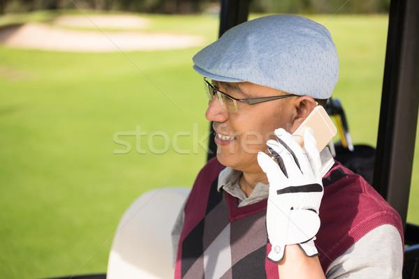 профиль мнение гольфист улыбаясь призыв гольф Сток-фото © wavebreak_media